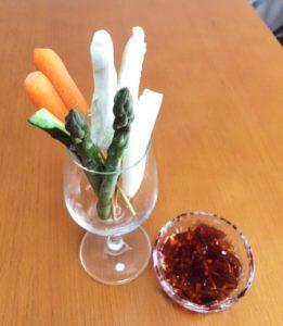 野菜スティックと手作りぽんじゅジュレ