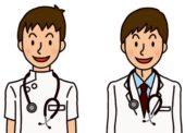 2人の男子医学生のイラスト