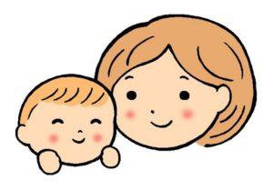 微笑みあう母と赤ちゃん